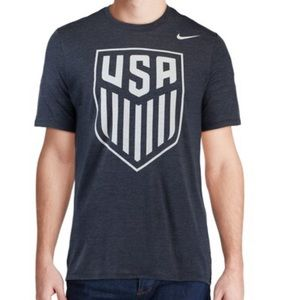 US Soccer Men's Navy Crest T-Shirt